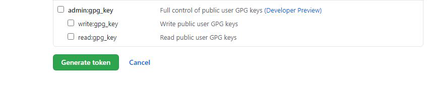 Generate Token button